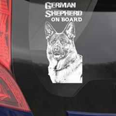 자동차 유리용 투명필름 강아지 캐릭터 저먼 셰퍼드