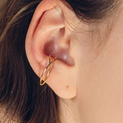 wave cross earcuff (2colors)