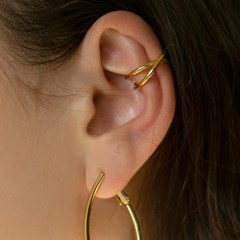X line circle earcuff (2colors)
