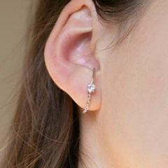 cubic chain earcuff earrings (2colors)