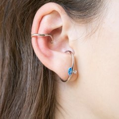 both cubic earcuff earrings (2colors)