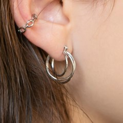 layered hoop ring earrings (2colors)