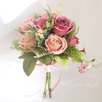 [브라이덜샤워 파티용품] 올리비아 핑크 조화 부케