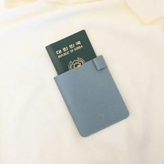 [IDEALMOMENT] 여권지갑_블루엠보