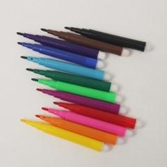 컬러 사인펜 12색/미니사이즈 싸인펜세트 문구용품