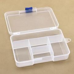 투명 소품 수납함 멀티박스(5칸)/미니 정리함 부품함