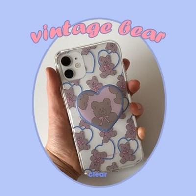 [뮤즈무드] vintage bear case (clear) 아이폰케이스