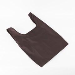 포켓 접이식 시장가방(다크브라운) / 휴대용 장바구니
