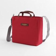 스니트리 여행용 크로스백(레드) / 캐리어 보조가방