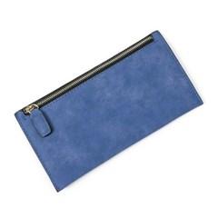 엘리야 가죽 장지갑(블루)/슬림장지갑 여성지갑