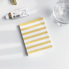 MEMO PAD - stripe yellow