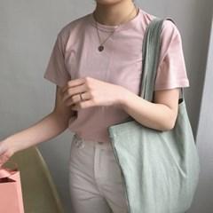 slowstitch big bag ( pastel green )