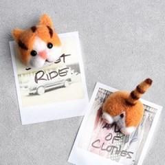 DIY 양모펠트 패키지 고양이 마그넷 만들기 코숏 자석