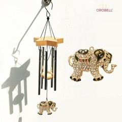 오로벨 행운과 부의 상징 드림벨 코끼리 다크그레이