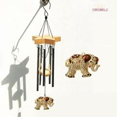 오로벨 행운과 부의 상징 드림벨 코끼리 브라운
