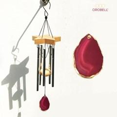 오로벨 행운을 부르는 마노 아게이트 천연석 핑크