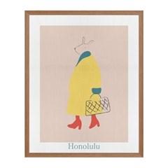 Honolulu 패브릭 포스터 액자