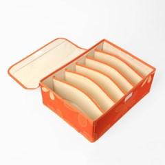 리빙박스 속옷정리함(6칸)/패브릭 소품함 양말정리함