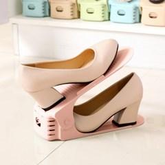 홈러브 높이조절 슈즈렉/ 핑크 신발정리대