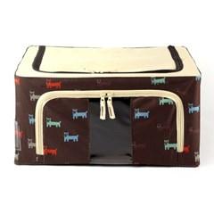 22L 강아지 패턴 리빙박스/독서실납품용 회사납품