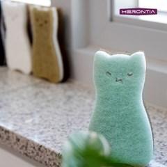 헤론티아 고양이 스펀지 2P HT8T3H002 / 수세미