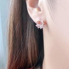 OST 프리저브드 꽃다발 로즈골드 귀걸이 OTS117601QPW