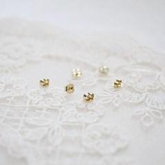 18k 귀걸이 뒤꽂이 골드 3mm 양쪽 2짝_(1112997)