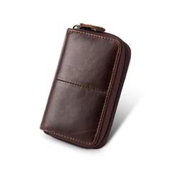 로튼 소가죽 카드지갑(다크브라운) / 가죽 명함지갑