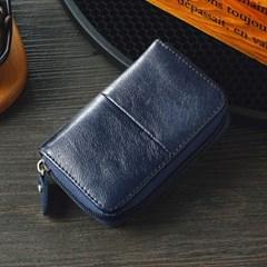 로튼 소가죽 카드지갑(네이비) / 가죽 명함지갑