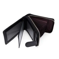 마르스 소가죽 카드지갑(블랙) / 가죽 명함지갑