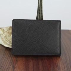심플리 소가죽 카드지갑(블랙) / 가죽 명함지갑