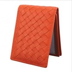 엘리파 양가죽 카드지갑(오렌지) / 양가죽 명함지갑