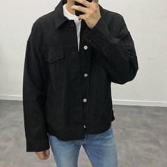 봄 남자 캐주얼 카라 트러커 봄버 블루종 자켓