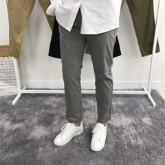 봄 남자 워싱 밴딩 편안한 일자 치노 밴딩 면 팬츠