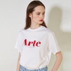 [룩캐스트] WHITE ARTE LOGO TSHIRT