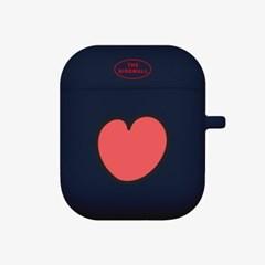 heart pattern 에어팟 케이스[navy]_(889722)