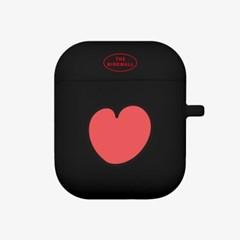 heart pattern 에어팟 케이스[black]_(889720)