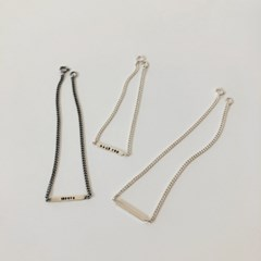 [92.5 silver] Initial square anklet (2 colors)