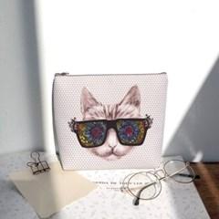 고양이 일러스트 파우치 - 펀글래스 고양이