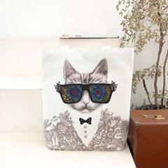 시크한 고양이 에코백 - 펀글래스 고양이