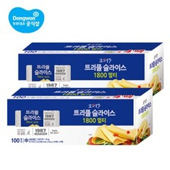 동원 소와나무 트리플 슬라이스 치즈 1.8Kg×2개(200매입)