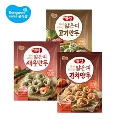 동원 개성 얇은피만두[고기,김치]400g×2봉 or 새우만두 520g×1봉