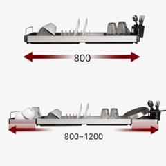 프리미엄 알루미늄 창문거치형 폭조절 씽크선반_(1016512)