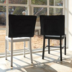 블랭크 블랙 광목 의자커버 / 식탁의자커버 (RM 274001)