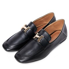 kami et muse Gold H pendent slim loafers_KM19w336