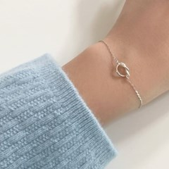 [92.5 silver] Pretzel bracelet