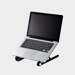 2단계 접이식 노트북 스탠드/거치대 (블랙/화이트)_(1050895)
