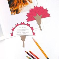 카네이션 브로치 엽서 만들기 패키지 DIY (30인용)