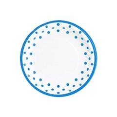 라인도트 접시 18cm 6입 [블루]_(11961714)