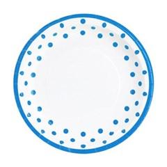 라인도트 접시 23cm 6입 [블루]_(11961710)